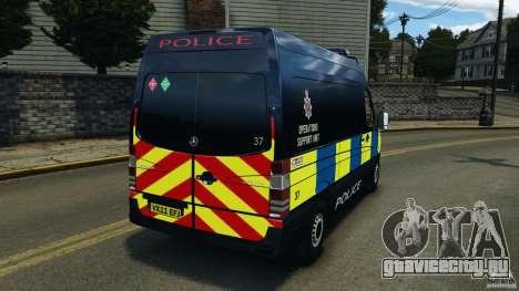 Mercedes-Benz Sprinter Police [ELS] для GTA 4 вид сзади слева
