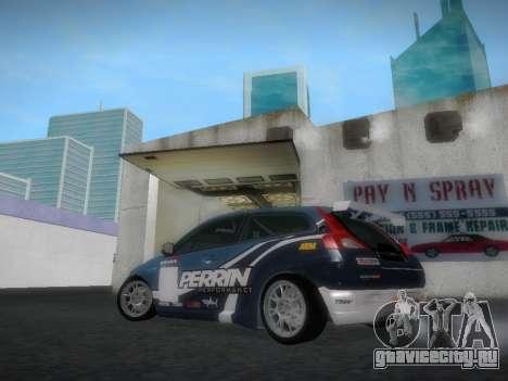 Volvo C30 Race для GTA San Andreas вид сзади