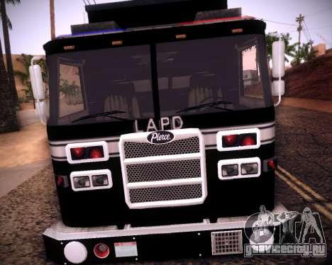 Pierce Contendor LAPD SWAT для GTA San Andreas вид слева