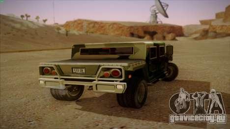 HD Patriot для GTA San Andreas вид сзади слева