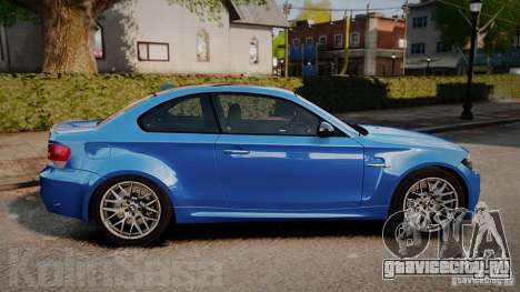 BMW 1M 2011 Carbon для GTA 4 вид слева