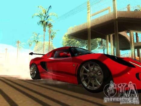 Lotus Exige 240R для GTA San Andreas вид сверху