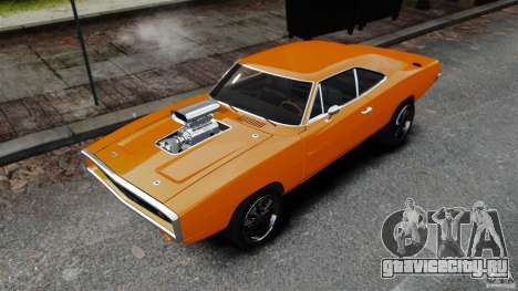Dodge Charger RT 1970 для GTA 4 вид сзади слева