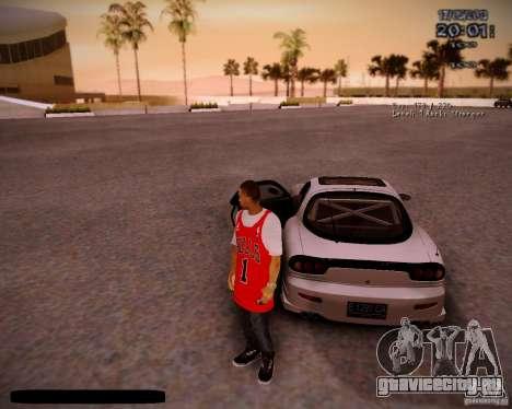 Skin Чикаго Буллс для GTA San Andreas пятый скриншот