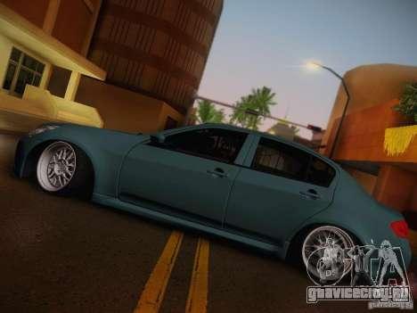 Infiniti G37 Sedan для GTA San Andreas вид сбоку