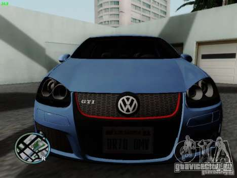 Volkswagen Golf V R32 Black edition для GTA San Andreas вид слева