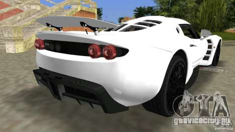Hennessey Venom GT Spyder для GTA Vice City вид слева