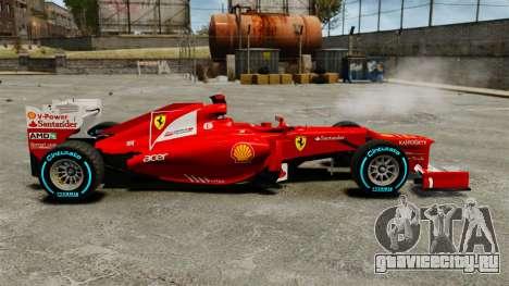 Ferrari F2012 для GTA 4 вид слева