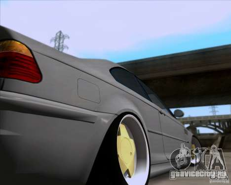 BMW 3-er E46 Dope для GTA San Andreas вид изнутри