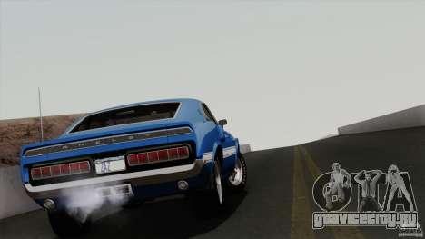 Shelby GT500 428 Cobra Jet 1969 для GTA San Andreas вид снизу