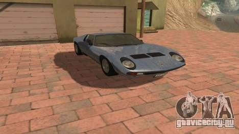 Lamborghini Miura P400 SV 1971 V1.0 для GTA San Andreas вид изнутри