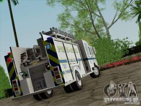 Pierce Pumpers. B.C.F.D. FIRE-EMS для GTA San Andreas вид слева
