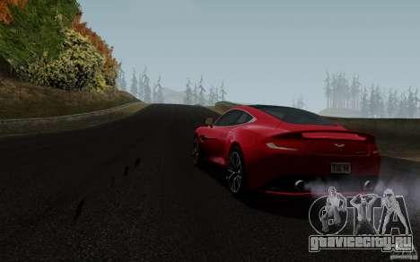Aston Martin Vanquish 2012 для GTA San Andreas вид сзади слева
