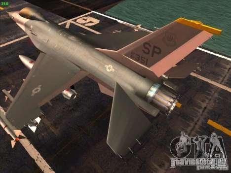 F-16C Fighting Falcon для GTA San Andreas вид сзади слева