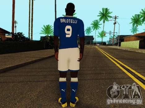 Марио Балотелли v4 для GTA San Andreas четвёртый скриншот