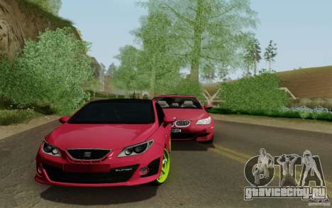 Seat Ibiza Cupra для GTA San Andreas вид сзади слева