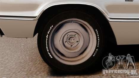 Dodge Coronet 1967 для GTA 4 вид снизу