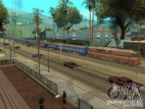 Плацкартный вагон УЖД для GTA San Andreas вид сбоку