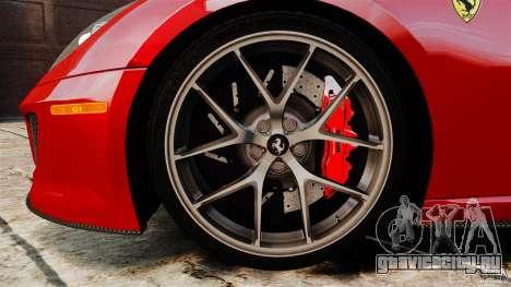Ferrari 599 GTO 2011 для GTA 4 вид сверху