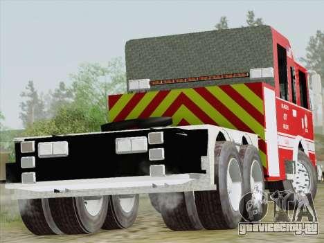 Pierce Arrow XT LAFD Tiller Ladder Truck 10 для GTA San Andreas вид справа