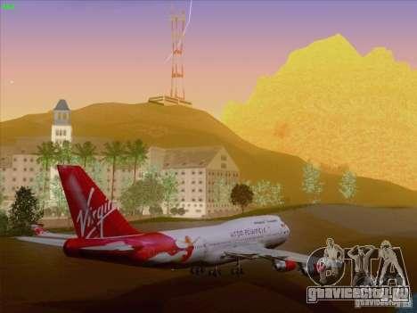 Boeing 747-4Q8 Lady Penelope для GTA San Andreas вид снизу