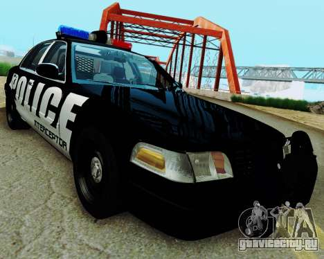 Ford Crown Victoria Police Interceptor 2011 для GTA San Andreas вид сзади слева