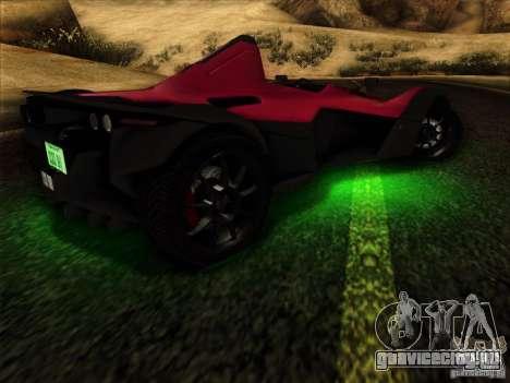 BAC MONO для GTA San Andreas вид сбоку