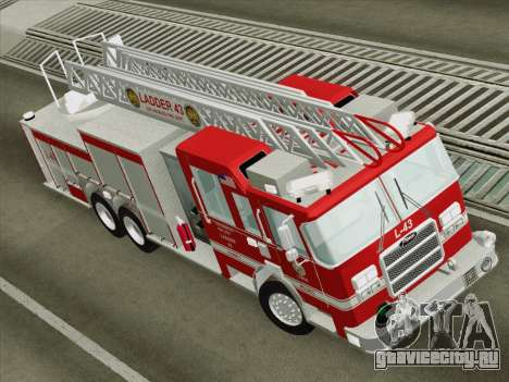Pierce Arrow LAFD Ladder 43 для GTA San Andreas вид сзади