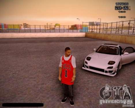 Skin Чикаго Буллс для GTA San Andreas