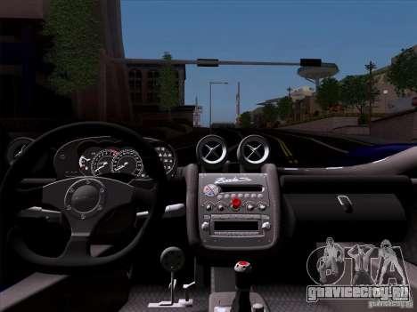 Pagani Zonda C12S Roadster для GTA San Andreas вид сзади
