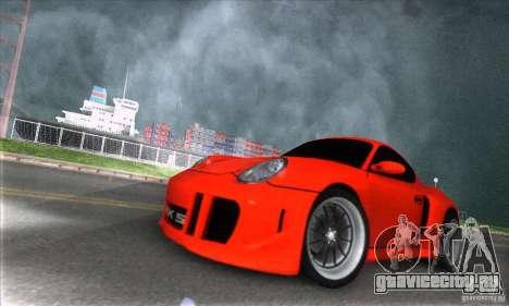 Porsche Cayman S v2 для GTA San Andreas вид сзади