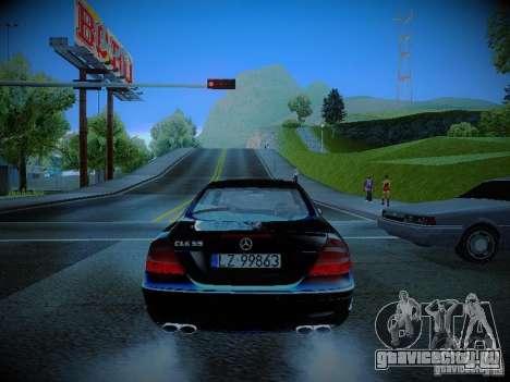 Mercedes-Benz CLK 55 AMG Coupe для GTA San Andreas вид сзади слева