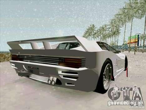 Ferrari Testarossa Custom для GTA San Andreas вид слева