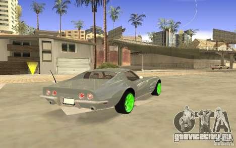Chevrolet Corvette Stingray Monster Energy для GTA San Andreas вид сзади