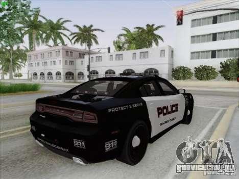 Dodge Charger 2012 Police для GTA San Andreas вид сверху