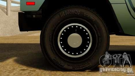 Hummer H1 Alpha для GTA 4 вид сзади