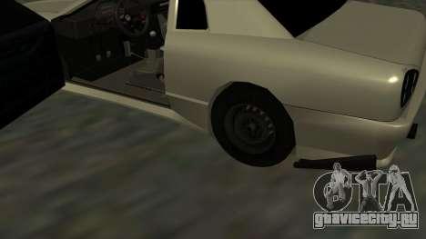 Elegy Roportuance для GTA San Andreas вид изнутри