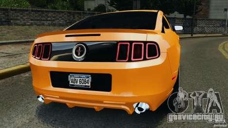 Ford Mustang 2013 Police Edition [ELS] для GTA 4 вид сзади слева