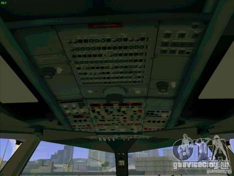 Airbus A380-800 для GTA San Andreas салон