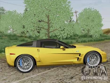 Chevrolet Corvette ZR1 для GTA San Andreas вид справа