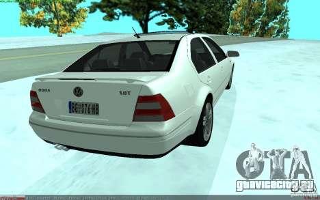 Volkswagen Bora 1.8 для GTA San Andreas вид сзади слева