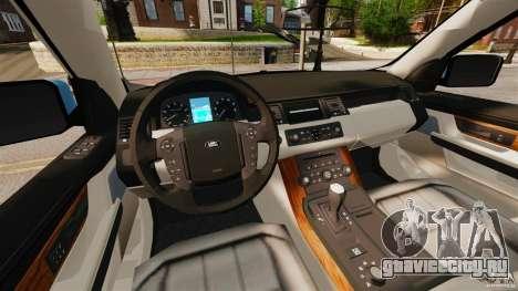 Land Rover Range Rover Sport Supercharged 2010 для GTA 4 вид сзади