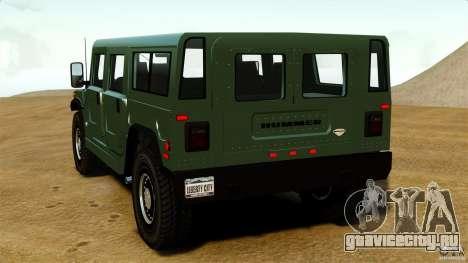 Hummer H1 Alpha для GTA 4 вид сзади слева