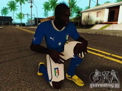 Марио Балотелли v4 для GTA San Andreas пятый скриншот