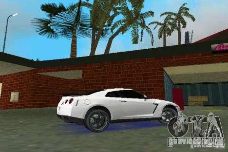 Nissan GT-R Spec V 2010 v1.0 для GTA Vice City вид сзади слева