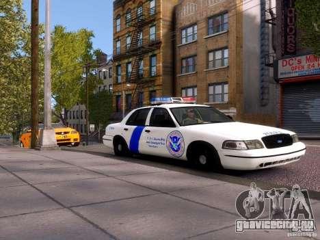 Ford Crown Victoria Homeland Security для GTA 4 вид сзади слева