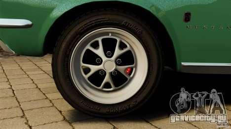 Ford Mustang 1967 для GTA 4 вид сверху