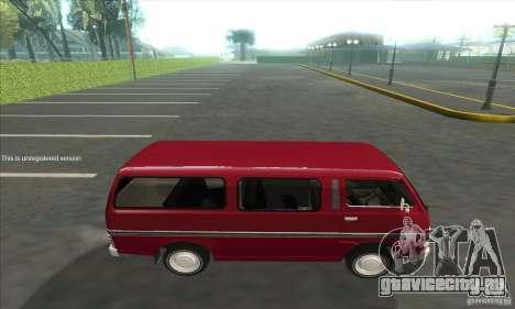 Nissan Caravan E20 для GTA San Andreas вид слева