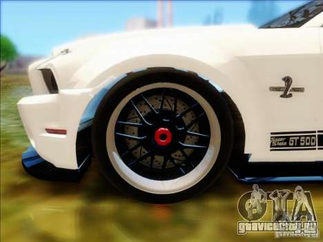 Ford Shelby GT500 SuperSnake NFS The Run Edition для GTA San Andreas вид справа