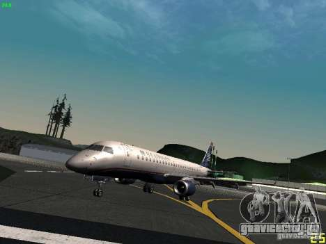 Embraer ERJ 190 USAirways для GTA San Andreas